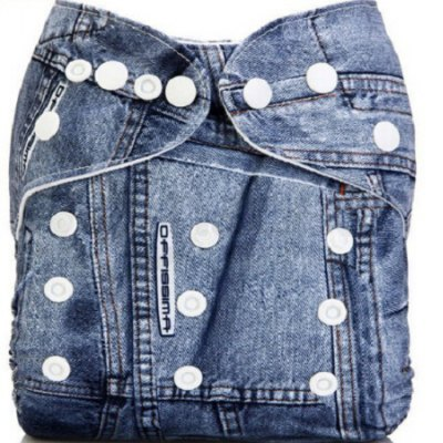 Baby Reusable Washable Jeans Cloth Diaper
