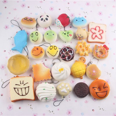 Realistic Bakery Dessert PU Foam Squishy Key Ring 15pcs / setSquishy toys<br>Realistic Bakery Dessert PU Foam Squishy Key Ring 15pcs / set<br><br>Materials: PU<br>Package Content: 15 x Squishy Toy<br>Package Dimension: 25.00 x 25.00 x 10.00 cm / 9.84 x 9.84 x 3.94 inches<br>Package Weights: 200g<br>Pattern Type: Delicacy<br>Product Weights: 163g<br>Products Type: Squishy Toy<br>Use: Art &amp; Collectible, Home Decoration