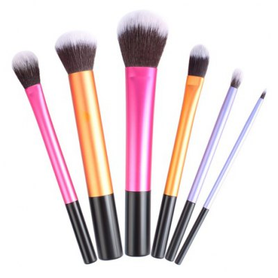 6PCS Fanned Foundation Cosmetic Brush