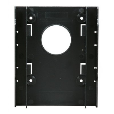 Dual 2.5 inch HDD SSD Bracket ABS Holder Hard Drive Tray