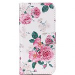 Pink Rose Pattern Flip-open Cover Case for Samsung Galaxy S7