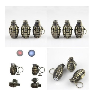 Metal Key Chain Simulation Grenade Laser Detector LED FlashlightNovelty lighting<br>Metal Key Chain Simulation Grenade Laser Detector LED Flashlight<br><br>Material: Aluminium Alloy<br>Package Contents: 1 x Flashlight Key Chain<br>Package size (L x W x H): 4.50 x 4.50 x 3.00 cm / 1.77 x 1.77 x 1.18 inches<br>Package weight: 0.0450 kg<br>Product size (L x W x H): 2.50 x 2.50 x 1.00 cm / 0.98 x 0.98 x 0.39 inches<br>Product weight: 0.0250 kg<br>Suitable for: Exhibition, Home