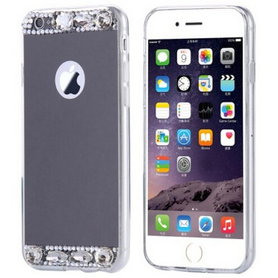 Diamond Silicone Mirror Plating Phone Case for iPhone 6