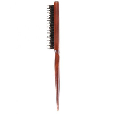 Bristle Hairbrush Updo Styling CombHair Care<br>Bristle Hairbrush Updo Styling Comb<br><br>Colors: Wood Color<br>Material             : Bristle,  Wood,  Nylon<br>Package Contents: 1 x Styling Comb<br>Package size (L x W x H): 25.00 x 3.00 x 4.00 cm / 9.84 x 1.18 x 1.57 inches<br>Package weight: 0.0600 kg<br>Product size (L x W x H): 24.00 x 2.00 x 3.00 cm / 9.45 x 0.79 x 1.18 inches<br>Product weight: 0.0300 kg