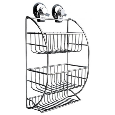 CW818 Stainless Steel Suction Cup Three-layer Hanging Basket 218111001