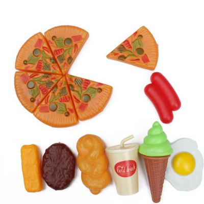 Simulated Pizza Package of Children Christmas GiftsPretend Play<br>Simulated Pizza Package of Children Christmas Gifts<br><br>Appliable Crowd: Unisex<br>Materials: ABS<br>Nature: Other<br>Package Contents: 1 x Set of Simulated Pizza Toys<br>Package size: 24.00 x 26.00 x 12.00 cm / 9.45 x 10.24 x 4.72 inches<br>Package weight: 0.1000 kg<br>Product size: 22.00 x 24.00 x 10.00 cm / 8.66 x 9.45 x 3.94 inches<br>Product weight: 0.0900 kg