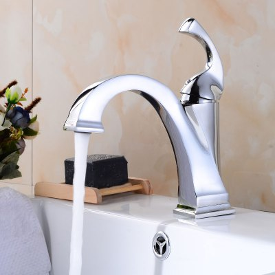 Contemporary Single Handle Chrome Bathroom Sink FaucetFaucets<br>Contemporary Single Handle Chrome Bathroom Sink Faucet<br><br>Cold and Hot Switch: Yes<br>Feature: Others<br>Finish: Chrome<br>Function: Bathroom Sink Faucets<br>Installation Holes: One Hole<br>Material: Others<br>Number of Handles: Single Handle<br>Package Contents: 1 x Bathroom Sink Faucet<br>Package size (L x W x H): 39.00 x 22.50 x 8.00 cm / 15.35 x 8.86 x 3.15 inches<br>Package weight: 1.8200 kg<br>Product size (L x W x H): 38.00 x 21.50 x 7.00 cm / 14.96 x 8.46 x 2.76 inches<br>Product weight: 1.3000 kg<br>Style: Contemporary