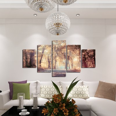 5pcs Forest Printing Canvas Wall Decoration