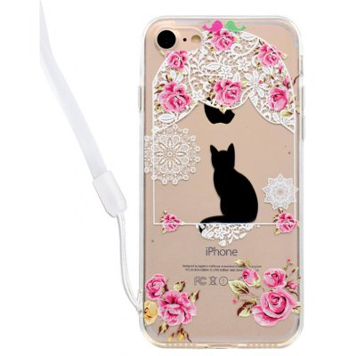 Lovely Cat Design Acrylic Back Case for iPhone 7