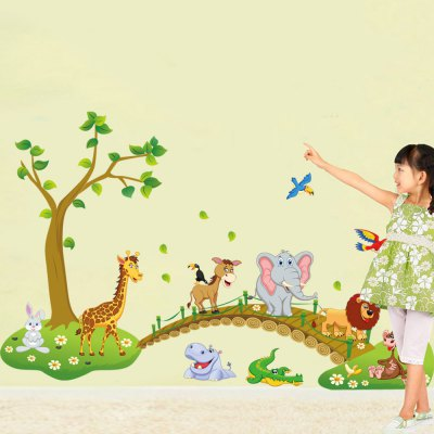 Kids Cartoon Forest Animal Removable Wall StickerWall Stickers<br>Kids Cartoon Forest Animal Removable Wall Sticker<br><br>Art Style: Plane Wall Stickers<br>Color Scheme: Multicolor<br>Functions: Decorative Wall Stickers<br>Hang In/Stick On: Bedrooms,Kids Room,Living Rooms<br>Material: Self-adhesive Plastic, Vinyl(PVC)<br>Package Contents: 1 x Sticker<br>Package size (L x W x H): 60.00 x 5.00 x 5.00 cm / 23.62 x 1.97 x 1.97 inches<br>Package weight: 0.2000 kg<br>Product weight: 0.1500 kg<br>Sizes: 60 x 90cm<br>Subjects: Landscape