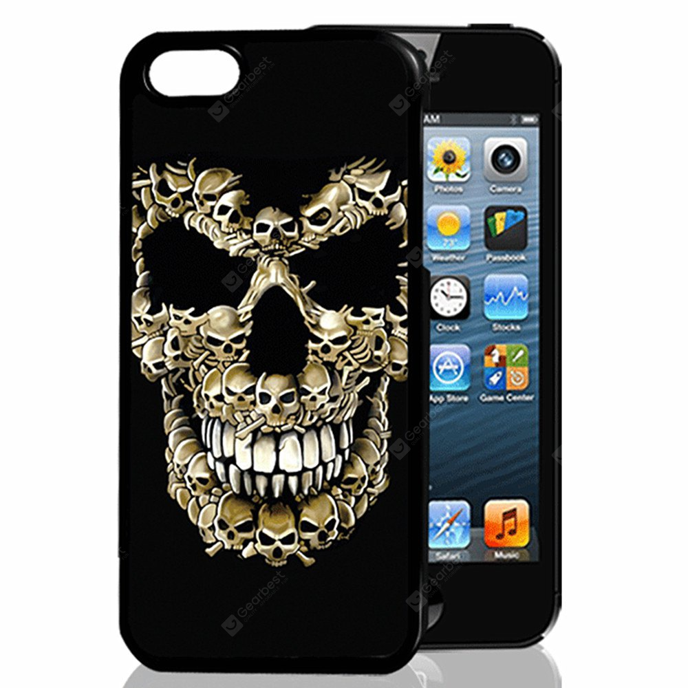 Buy 3D Relief Skull TPU Phone Case COLORMIX