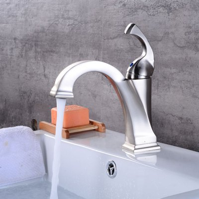 A21 Brushed Bathroom Sink Faucet with Single HandleFaucets<br>A21 Brushed Bathroom Sink Faucet with Single Handle<br><br>Cold and Hot Switch: Yes<br>Feature: Waterfall<br>Function: Bathroom Sink Faucets<br>Installation Holes: One Hole<br>Number of Handles: Single Handle<br>Package Contents: 1 x Bathroom Sink Faucet<br>Package size (L x W x H): 21.00 x 16.50 x 12.00 cm / 8.27 x 6.5 x 4.72 inches<br>Package weight: 1.2200 kg<br>Product size (L x W x H): 18.50 x 15.00 x 9.00 cm / 7.28 x 5.91 x 3.54 inches<br>Product weight: 1.0000 kg<br>Style: Contemporary