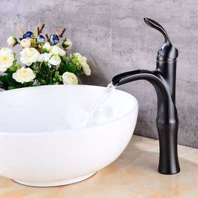 A14 Single Handle Black Bathroom Sink FaucetFaucets<br>A14 Single Handle Black Bathroom Sink Faucet<br><br>Cold and Hot Switch: Yes<br>Feature: Waterfall<br>Function: Bathroom Sink Faucets<br>Installation Holes: One Hole<br>Number of Handles: Single Handle<br>Package Contents: 1 x Bathroom Sink Faucet<br>Package size (L x W x H): 38.00 x 16.50 x 12.00 cm / 14.96 x 6.5 x 4.72 inches<br>Package weight: 1.6700 kg<br>Product size (L x W x H): 32.00 x 15.00 x 9.00 cm / 12.6 x 5.91 x 3.54 inches<br>Product weight: 1.4470 kg<br>Style: Contemporary