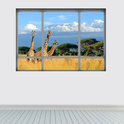 YM1044 3D Tropical Grassland Giraffe Wall StickerWall Stickers<br>YM1044 3D Tropical Grassland Giraffe Wall Sticker<br><br>Art Style: Plane Wall Stickers<br>Functions: Decorative Wall Stickers<br>Material: Vinyl(PVC)<br>Package Contents: 1 x Wall Sticker<br>Package size (L x W x H): 48.50 x 4.00 x 4.00 cm / 19.09 x 1.57 x 1.57 inches<br>Package weight: 0.1500 kg<br>Product size (L x W x H): 68.00 x 48.50 x 0.10 cm / 26.77 x 19.09 x 0.04 inches<br>Product weight: 0.1100 kg<br>Subjects: Landscape