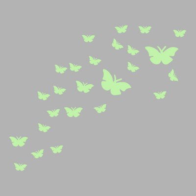 Fluorescence Creative Butterfly Luminous Wall StickerWall Stickers<br>Fluorescence Creative Butterfly Luminous Wall Sticker<br><br>Functions: Decorative Wall Stickers<br>Hang In/Stick On: Bathroom,Bedrooms,Kids Room,Living Rooms<br>Material: Self-adhesive Plastic, Vinyl(PVC)<br>Package Contents: 1 x Sticker<br>Package size (L x W x H): 30.00 x 10.00 x 4.00 cm / 11.81 x 3.94 x 1.57 inches<br>Package weight: 0.0150 kg<br>Product size (L x W x H): 96.00 x 79.00 x 0.10 cm / 37.8 x 31.1 x 0.04 inches<br>Product weight: 0.0100 kg<br>Subjects: Animal