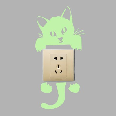 Fluorescence Creative Cat Luminous Switch Wall StickerWall Stickers<br>Fluorescence Creative Cat Luminous Switch Wall Sticker<br><br>Art Style: Plane Wall Stickers<br>Functions: Decorative Wall Stickers<br>Hang In/Stick On: Bathroom,Bedrooms,Kids Room,Living Rooms<br>Material: Vinyl(PVC), Self-adhesive Plastic<br>Package Contents: 1 x Sticker<br>Package size (L x W x H): 11.00 x 21.00 x 1.00 cm / 4.33 x 8.27 x 0.39 inches<br>Package weight: 0.0750 kg<br>Product size (L x W x H): 10.00 x 20.00 x 0.10 cm / 3.94 x 7.87 x 0.04 inches<br>Product weight: 0.0300 kg<br>Subjects: Animal