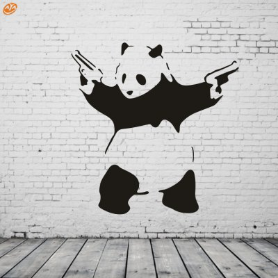 AY - 296 Creative DIY Panda Decorative Wall StickerWall Stickers<br>AY - 296 Creative DIY Panda Decorative Wall Sticker<br><br>Art Style: Plane Wall Stickers<br>Material: Vinyl(PVC)<br>Package Contents: 1 x DIY Wall Sticker<br>Package size (L x W x H): 45.00 x 5.00 x 5.00 cm / 17.72 x 1.97 x 1.97 inches<br>Package weight: 0.2200 kg<br>Product size (L x W x H): 52.00 x 53.00 x 0.10 cm / 20.47 x 20.87 x 0.04 inches<br>Product weight: 0.0600 kg<br>Subjects: Animal