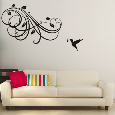 AY - 305 Creative DIY Flower Vine Decorative Wall StickerWall Stickers<br>AY - 305 Creative DIY Flower Vine Decorative Wall Sticker<br><br>Art Style: Plane Wall Stickers<br>Color Scheme: Black<br>Material: Vinyl(PVC)<br>Package Contents: 1 x DIY Wall Sticker<br>Package size (L x W x H): 60.00 x 5.00 x 5.00 cm / 23.62 x 1.97 x 1.97 inches<br>Package weight: 0.2700 kg<br>Product size (L x W x H): 55.00 x 80.00 x 0.20 cm / 21.65 x 31.5 x 0.08 inches<br>Product weight: 0.1000 kg<br>Subjects: Botanical