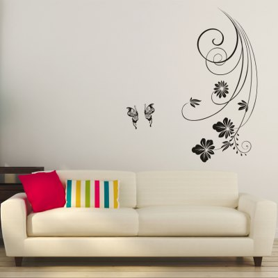 AY - 312 Creative DIY Flower Vine Decorative Wall StickerWall Stickers<br>AY - 312 Creative DIY Flower Vine Decorative Wall Sticker<br><br>Art Style: Plane Wall Stickers<br>Color Scheme: Black<br>Material: Vinyl(PVC)<br>Package Contents: 1 x DIY Wall Sticker<br>Package size (L x W x H): 45.00 x 5.00 x 5.00 cm / 17.72 x 1.97 x 1.97 inches<br>Package weight: 0.2200 kg<br>Product size (L x W x H): 42.00 x 88.00 x 0.20 cm / 16.54 x 34.65 x 0.08 inches<br>Product weight: 0.1000 kg<br>Subjects: Others