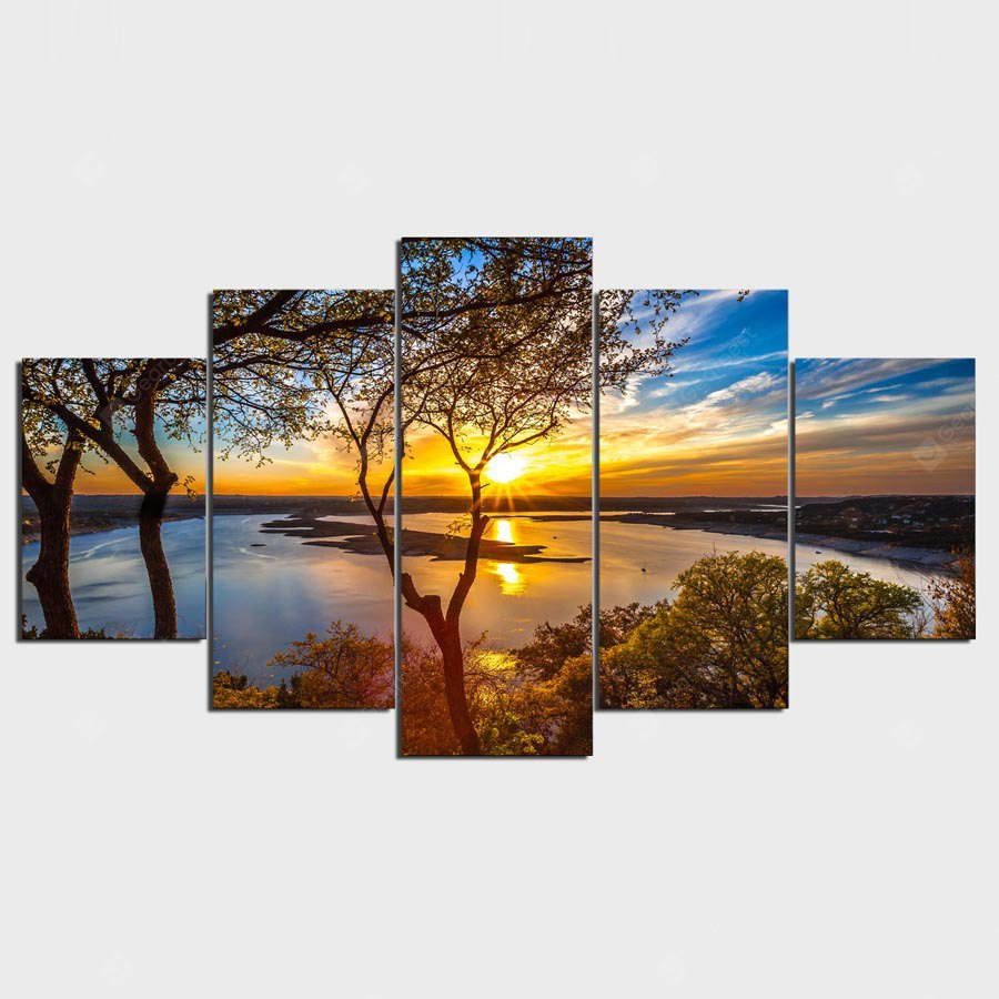 YSDAFEN Landscape Printing Canvas Wall Decoration COLORFUL