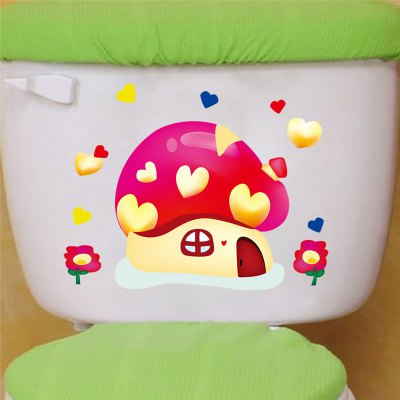 DIY Cartoon Mushroom Toilet StickerWall Stickers<br>DIY Cartoon Mushroom Toilet Sticker<br><br>Art Style: Toilet Stickers<br>Functions: Decorative Wall Stickers<br>Hang In/Stick On: Bathroom<br>Material: Self-adhesive Plastic, Vinyl(PVC)<br>Package Contents: 1 x Sticker<br>Package size (L x W x H): 22.00 x 32.00 x 0.50 cm / 8.66 x 12.6 x 0.2 inches<br>Package weight: 0.0470 kg<br>Product size (L x W x H): 21.00 x 30.00 x 0.20 cm / 8.27 x 11.81 x 0.08 inches<br>Product weight: 0.0400 kg
