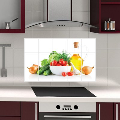 Fruits and Vegetables Waterproof Wall Sticker