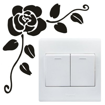 Creative DIY Rose Design Switch Sticker