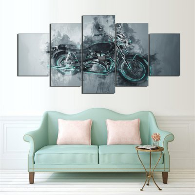 YSDAFEN 5PCS Modern Print Motorbike Wall DecorPrints<br>YSDAFEN 5PCS Modern Print Motorbike Wall Decor<br><br>Craft: Print<br>Form: Five Panels<br>Material: Canvas<br>Package Contents: 5 x Print<br>Package size (L x W x H): 62.00 x 27.00 x 15.00 cm / 24.41 x 10.63 x 5.91 inches<br>Package weight: 1.2500 kg<br>Painting: Without Inner Frame<br>Product size (L x W x H): 60.00 x 25.00 x 12.00 cm / 23.62 x 9.84 x 4.72 inches<br>Product weight: 1.0000 kg<br>Shape: Vertical<br>Style: Amazing<br>Subjects: Others<br>Suitable Space: Bedroom,Cafes,Kids Room,Living Room,Office