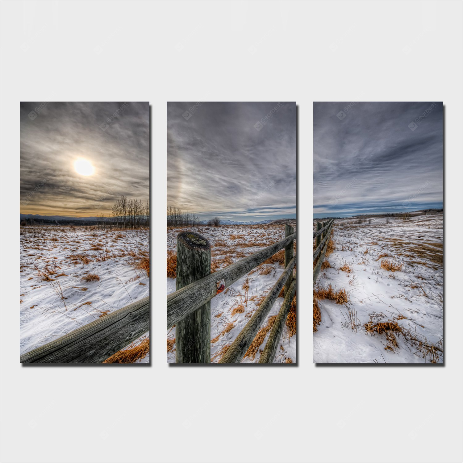 YSDAFEN Snows Cape Printing Canvas Wall Decoration COLORFUL