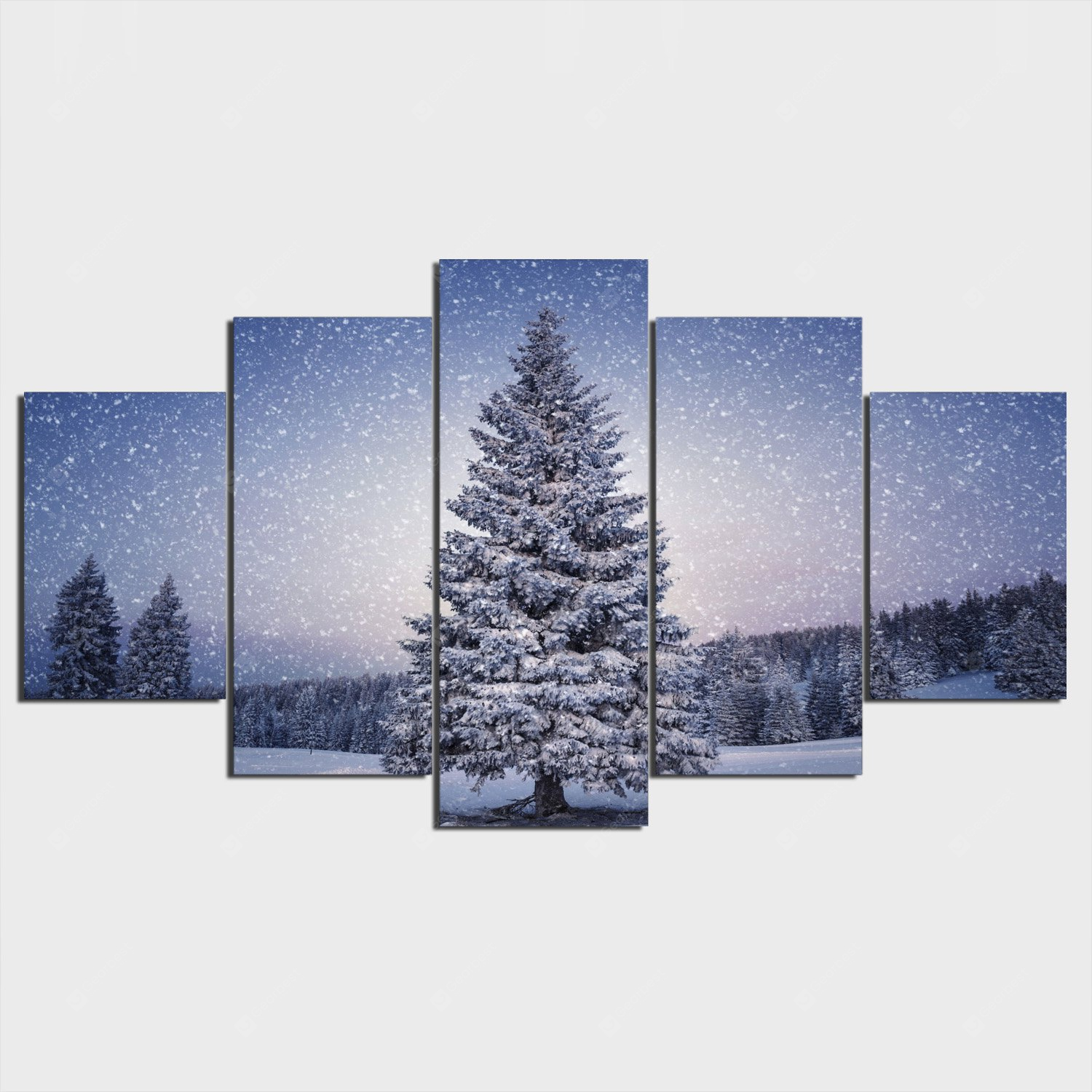 YSDAFEN Tree Winter Printing Canvas Wall Decoration COLORFUL