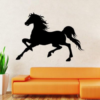 Creative Running Horse Wall Sticker Wallpaper