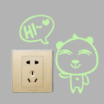 Creative Fluorescence Mimi Bear Luminous Switch Wall StickerWall Stickers<br>Creative Fluorescence Mimi Bear Luminous Switch Wall Sticker<br><br>Functions: Decorative Wall Stickers<br>Hang In/Stick On: Bathroom,Bedrooms,Kids Room,Kitchen,Living Rooms<br>Material: Self-adhesive Plastic, Vinyl(PVC)<br>Package Contents: 1 x Sticker<br>Package size (L x W x H): 12.00 x 6.00 x 6.00 cm / 4.72 x 2.36 x 2.36 inches<br>Package weight: 0.0230 kg<br>Product size (L x W x H): 10.00 x 10.00 x 0.10 cm / 3.94 x 3.94 x 0.04 inches<br>Product weight: 0.0020 kg
