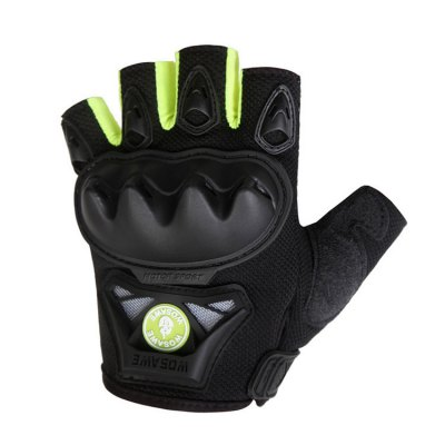 WOSAWE Pair of Half Finger Motorcycle GlovesCycling Gloves<br>WOSAWE Pair of Half Finger Motorcycle Gloves<br><br>Brand: WOSAWE<br>Gender: Unisex<br>Package Contents: 1 x Pair of Gloves<br>Package size (L x W x H): 21.00 x 14.00 x 2.00 cm / 8.27 x 5.51 x 0.79 inches<br>Package weight: 0.1450 kg<br>Product weight: 0.1200 kg<br>Style Design: Half-finger