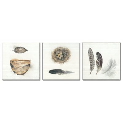 Jingsheng 3PCS Minimalist Style Bird Nest Wall Decor