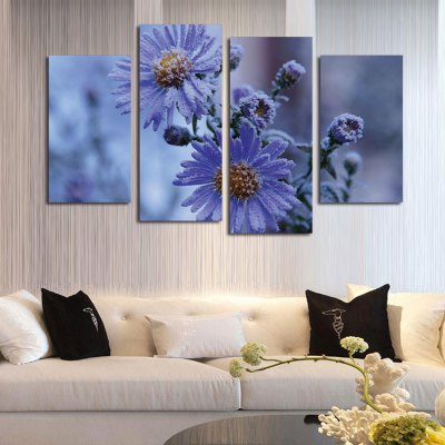 4PCS Print Snow Daisy Wall Decor for Home DecorationPrints<br>4PCS Print Snow Daisy Wall Decor for Home Decoration<br><br>Craft: Print<br>Form: Four Panels<br>Material: Canvas<br>Package Contents: 4 x Print<br>Package size (L x W x H): 42.00 x 6.00 x 6.00 cm / 16.54 x 2.36 x 2.36 inches<br>Package weight: 0.4200 kg<br>Painting: Without Inner Frame<br>Product size (L x W x H): 120.00 x 80.00 x 0.10 cm / 47.24 x 31.5 x 0.04 inches<br>Product weight: 0.3400 kg<br>Shape: Vertical<br>Style: Natural<br>Subjects: Flower<br>Suitable Space: Bedroom,Kids Room