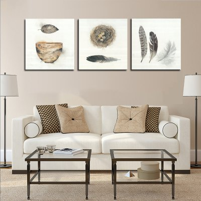 Jingsheng 3PCS Print Bird Nest Wall Decor Home DecorationPrints<br>Jingsheng 3PCS Print Bird Nest Wall Decor Home Decoration<br><br>Craft: Print<br>Form: Three Panels<br>Material: Canvas<br>Package Contents: 3 x Print<br>Package size (L x W x H): 59.00 x 6.00 x 6.00 cm / 23.23 x 2.36 x 2.36 inches<br>Package weight: 0.3000 kg<br>Painting: Without Inner Frame<br>Product size (L x W x H): 150.00 x 50.00 x 3.00 cm / 59.06 x 19.69 x 1.18 inches<br>Product weight: 0.2300 kg<br>Shape: Square<br>Style: Animal Fur Pattern<br>Subjects: Others<br>Suitable Space: Bedroom