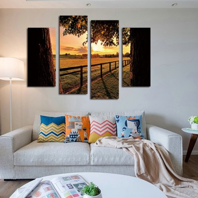 4PCS Evening Farm Printing Canvas Wall DecorationPrints<br>4PCS Evening Farm Printing Canvas Wall Decoration<br><br>Craft: Print<br>Form: Four Panels<br>Material: Canvas<br>Package Quantity: 4 x Print<br>Package size (L x W x H): 42.00 x 6.00 x 6.00 cm / 16.54 x 2.36 x 2.36 inches<br>Package weight: 0.8200 kg<br>Painting: Without Inner Frame<br>Product weight: 0.3400 kg<br>Shape: Horizontal Panoramic<br>Style: Landscape<br>Subjects: Still Life<br>Suitable Space: Bedroom,Hotel,Living Room