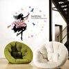 Buy Creative Flower Faerie EnvironmentalWall Sticker COLORFUL