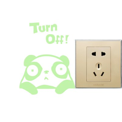 Creative Panda Design Switch Wall Sticker