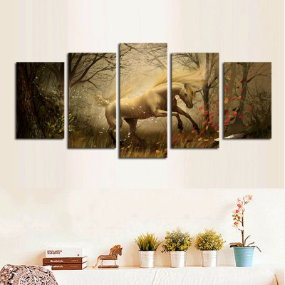 White Horse Printing Canvas Wall Decoration