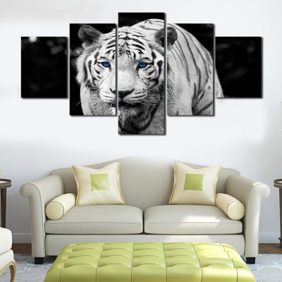 Canvas Print Painting White Tiger Home Decoration