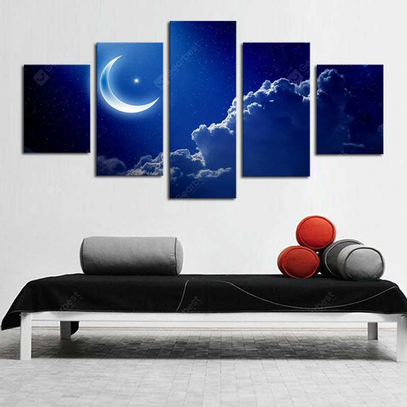 Moon Canvas Print Abstract Wall Decor Home COLORMIX