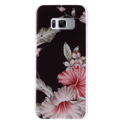 Stereo Relief Diamante Phone Cover Case for Samsung Galaxy S8