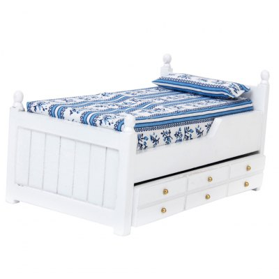 1:12 Dollhouse Simulation Bed with Drawer ModelPretend Play<br>1:12 Dollhouse Simulation Bed with Drawer Model<br><br>Package Contents: 1 x Set of Bed Toys<br>Package size (L x W x H): 19.00 x 10.00 x 8.00 cm / 7.48 x 3.94 x 3.15 inches<br>Package weight: 0.8700 kg<br>Product size (L x W x H): 17.30 x 8.80 x 6.30 cm / 6.81 x 3.46 x 2.48 inches<br>Product weight: 0.8000 kg<br>Type: Pretend Play
