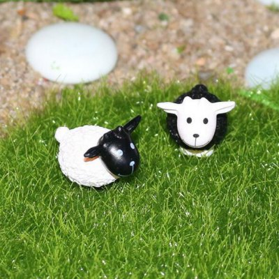 2pcs Micro-Landscape Decoration PVC Toys Sheep Design