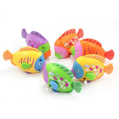 Swimming Ways Water Toys Colorful Wind Up Fish for Kids