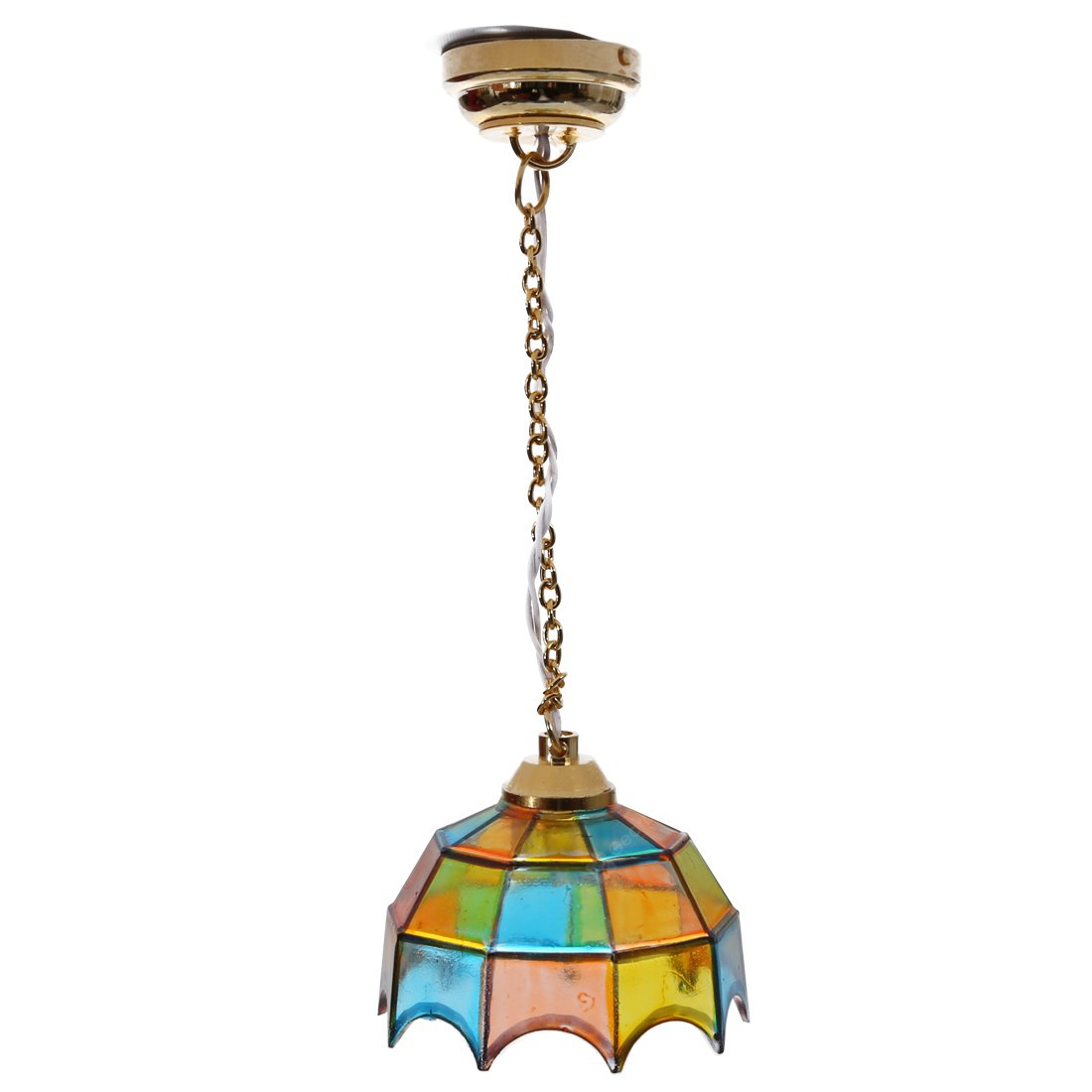 Tiffany Style Stained Glass Hanging Lamp COLORMIX