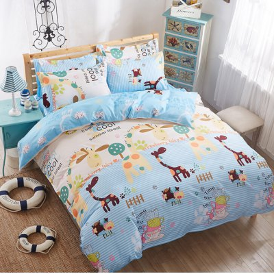 4-piece Bedding Set Polyester Cotton Animals Pattern