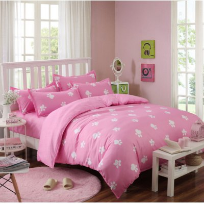 4-piece Bedding Set Polyester Cotton Cute Little Feet Pattern