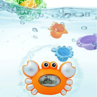 Crab Baby Bath Floating Toy Tub Thermometer Adding 4PCS Jenga Accessory